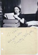 Dorothy Kilgallen Journalist & T.V Panelist Autograph ''Rare'' Died At Age 52