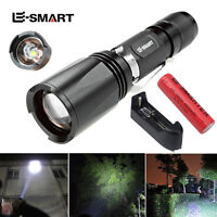 Waterproof XML T6 LED Mini Flashlight Zoomable 18650 Torch lamp+ Battery+charger