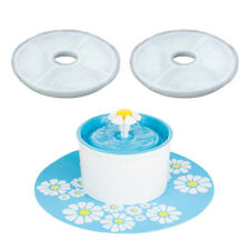 2x Flower Style Filter For Automatic Cat Dog Kitten Water Drinking Fountain Pets