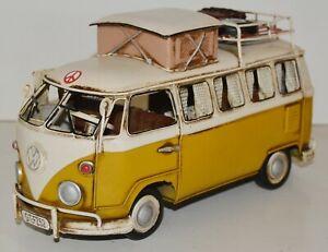 Blechauto Nostalgie Modellauto Oldtimer Automarke VW Bulli Modell T1 Bus L 25 cm