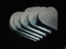 "Heart Cake Baking Tins - 3"" Deep - Individual Tins - Size 6"""