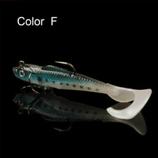 8.5cm Soft Silicone Bait Fish Lures Bass Fishing Tackle With 2 Sharp Hooks Hot Color F