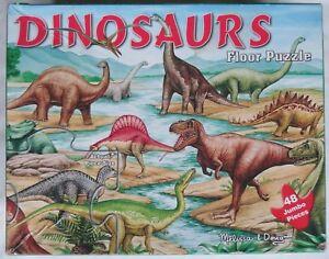Melissa & Doug Dinosaurs Large Floor Puzzle 48 Jumbo Pieces 2' x 3' Extras USA K