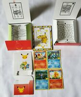 4 Pokemon Cards 25th Anniversary 2021 McDonalds With Card Stand & Card holders