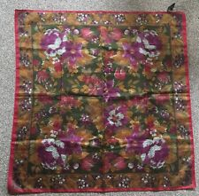 Vintage Style Ladies Floral Print Neckscarf/ Headscarf/Retro Look/Italian