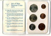 Set monedas isla de Man 1971 Decimal Coins
