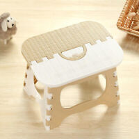 Folding Step Stool Furniture Stool with Handle for Kids and Adults Outdoors