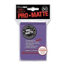 50 PRO MATTE DECK PROTECTORS Purple Viola MTG MAGIC Ultra Pro