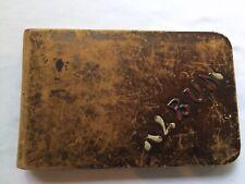Antique 1886 Leather Kinderhook New York AUTOGRAPH ALBUM BOOK