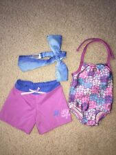American girl doll Kanani swimsuit set headband beach shorts outfit