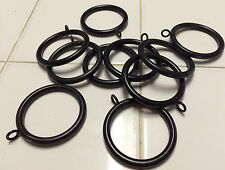 Lot of 10 Black Iron Rings curtains draperies R211 - fits 1.5 inch Rod