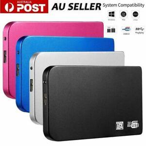 USB 3.0 1/2/4/6TB Portable External Hard Drive Disks High Speed HDD PC Laptop AU