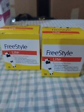 Freestyle Lite Blood Glucose Test Strips 2 boxes (50ct each) Exp: 01/2021 - L1