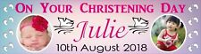Personalised Christening Day Banner with your photo & text Poster 4 foot long