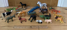 20 Mixed Piece Plastic Toy Animals  Bundle / Joblot Job Lot -  Farm Sea Pets