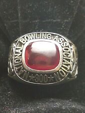 NBA NATIONAL BOWLING ASSOCIATION 300 RING STERLING SILVER SIZE 12-1/4`Jenkins