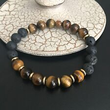 Essential Oil Diffuser Bracelet Natural Tigers Eye Gemstones Aromatherapy Beads