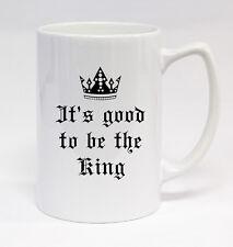 Good To Be King #140 - 14oz White Statesmen Coffee Mug Cup Husband Wife Love