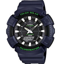 Casio Solar Analog/Digital Watch, Blue Resin, 200 Meter, 5 Alarms, ADS800WH-2AV