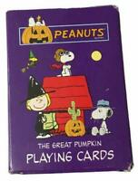 Peanuts The Great Pumpkin Snoopy Red Baron Halloween Playing Cards Complete