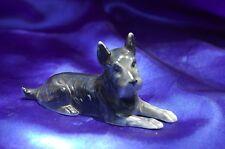 Vintage Porcelain Germany Black Brindle Scottish terrier dog Norwich terrier *