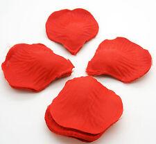 500 Petalos de rosa en tela de color rojo para Cena Aniversarios y Baños 2395