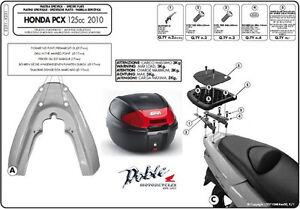 Brand New Givi Top Box & Fitting Kit For Honda PCX 125 PCX125 WW 125 In Black