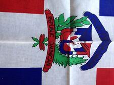 22x22 Dominican Republic Flag Bandana, Headwrap, 100% cotton, wristband, doo rag