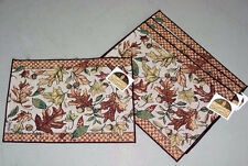 Autumn Leaves ~ Fall Foliage Tapestry Placemats Set/4 ~ Artist, Susan Winget