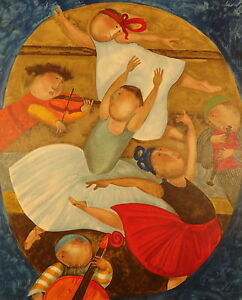 "Graciela Rodo Boulanger ""Allegro"" Original Lithograph from the ""Mouvements""suite"