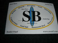 """ SANTA BARBARA "" SURF SURFING SURFBOARD BEACH STICKER"