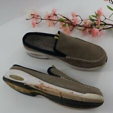 Cole Haan Womens Brown Leather Slides Mules Shoes Size US 9.5 Good Condition