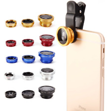 3 in 1 Universal Fisheye Wide Angle Macro Clip Lens Kit For iPhone iPad Samsung