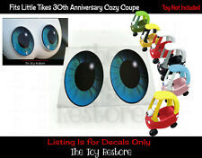 Custom Replacement Stickers fits 30th Little Tikes Cozy Coupe Car Blue Eye Pupil