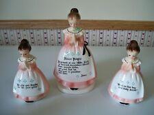 Enesco Dinner Prayer Lady Napkin Holder, Salt & Pepper shakers
