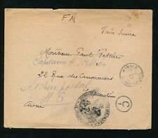 FRENCH GUINEA 1940 MILITARY TIRAILLEURS SENEGALAIS CENSOR C1 KINDIA + REDIRECTED