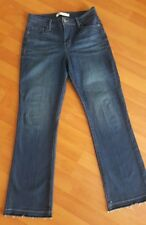 LEVIS 512 Jeans Size 8 Short Perfectly Slimming Bootcut Stretch Released Hem EUC