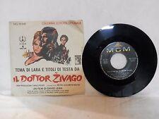 vecchio disco vinile 45 giri IL DOTTOR ZIVAGO temi di Lara e titoli testa MGM