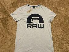 G-Star RAW  Logo Short Sleeve T-Shirt Mist Blue Men's Size XL NWT RT$50 mac D9