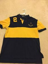 ralph lauren Polo Shirt Blue and Yellow Men's Large
