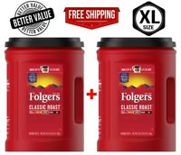 Folgers Classic Roast Ground Coffee, 2 Pack x 51 oz.  Best Deal - Free Shipping!