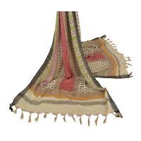Sanskriti Vintage Dupatta Long Stole Woolen Shawl Printed Multicolor Scarves