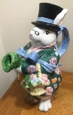 Fits And Floyd 1991 Large Easter Bunny Rabbit Flower Vase