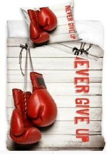 Boxing Gloves Cotton Duvet Cover Set Kids Boys Single Quilt Childrens Bedding