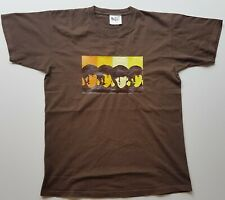 Beatles T Shirt Brown, tamaño mediano. envío gratuito en el Reino Unido.