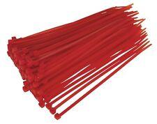 Sealey Câble Cravate 200 x 4.8 mm rouge lot de 100 ct20048p100r