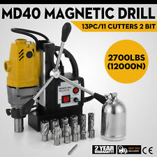 Trapano Magnetico MD40 13PC 40mm Drill Macchina Compatto Svasatura Pinion Gear