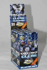 BLUEBERRY Flavored CYCLONES Box of 24 packs/48 PreRolled CLEAR Cigar Tube Cones