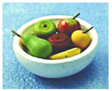 Dolls' House 1:12 Scale Fruit Bowl 12th Scale Bowl Of Fruit D1041 Accessories