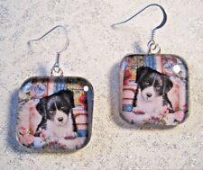 Border Collie Dog Earrings Puppy Peeking Out Window Girls Ladies